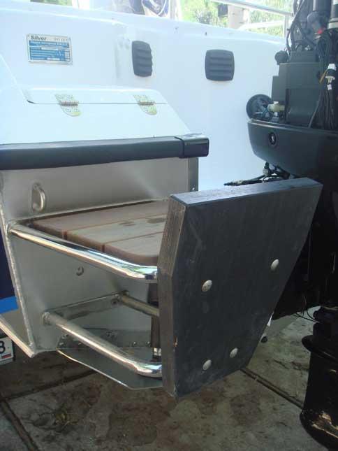 дополнительный транец получай моторную лодку
