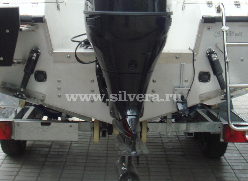как установить мотор на алюминиевую лодку